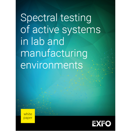Spectral testing of active systems in lab and manufacturing environments