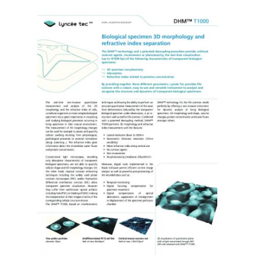 Biological specimen 3D morphology and refractive index separation