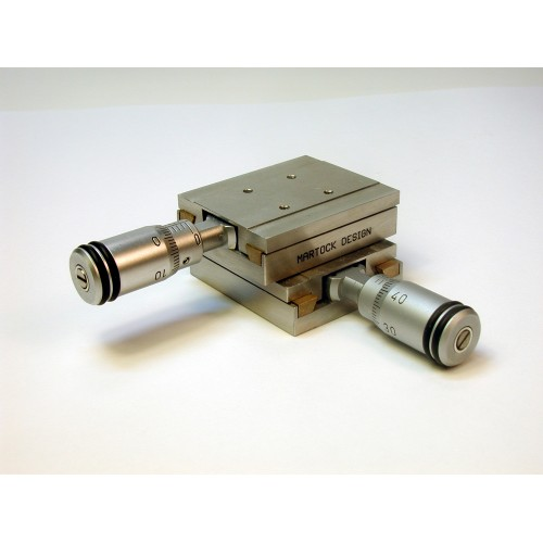 MDE258M - Dual Axis XY Micropositioner Stage with Micrometers