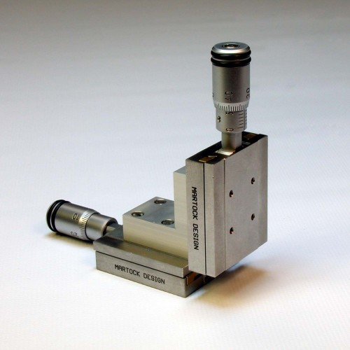 MDE255M-XZ - Dual Axis XZ Micropositioner Stage with Micrometers