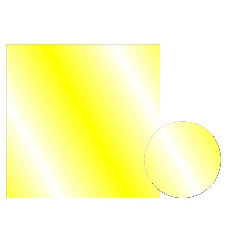 CDY-5051 - Dichroic Yellow 50 mm Sq.